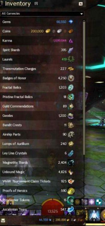 Guild Wars 2 Player Hit Inventory Gold Limit