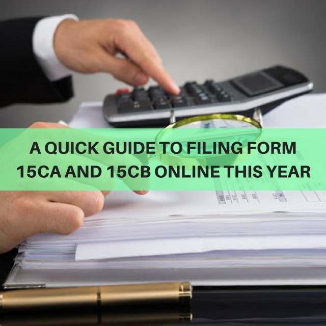 Filing of Form 15CA and 15CB online